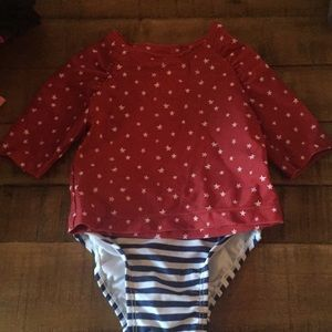 NWOT Patriotic Old Navy rasher 6-12mth